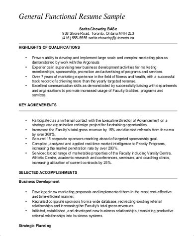 functional resume   samples  word