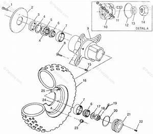 Polaris Atv 1997 Oem Parts Diagram For Front Wheel