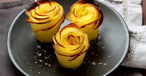 recette pommes de terre en forme de roses en pas  pas