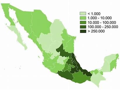 Nahuatl Language Mexico Source Map Populationdata Wikipedia