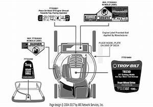 Troy Bilt Tb230 12avb25u711  2013   12avb25u711  2013  Parts Diagram For Label Map