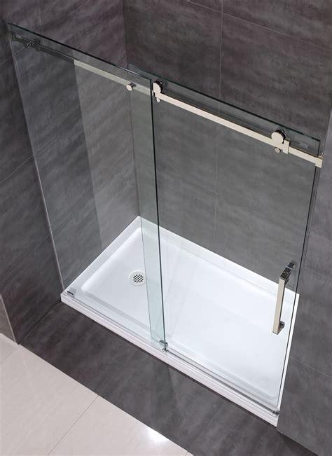 moselle completely frameless sliding shower door