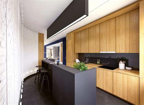 cuisine bois noir cuisine noir et bois un agencement harmonieux