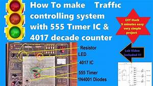 Make A Traffic Light Controller Project Using 555 Timer Ic