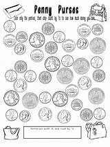 Coloring Coins Coin Pages Popular sketch template