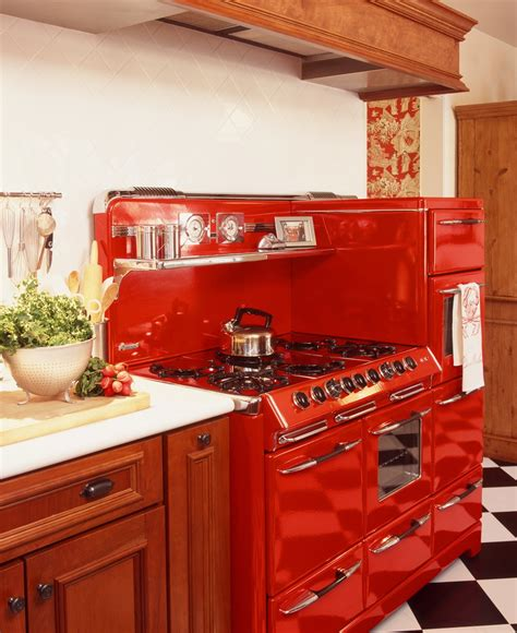 Unique Red Vintage Kitchen The Reviving Style