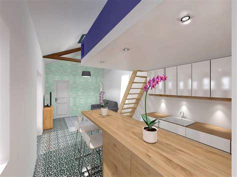 hote pour cuisine mezzanine sous combles placard sous pente design with