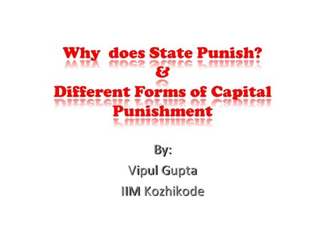 different forms of capital punishment