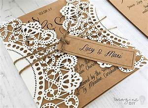 how to make rustic kraft and laser cut invitation with With laser cut diy wedding invitations uk