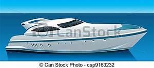 Vector Illustration of luxury yacht - luxury yacht ...