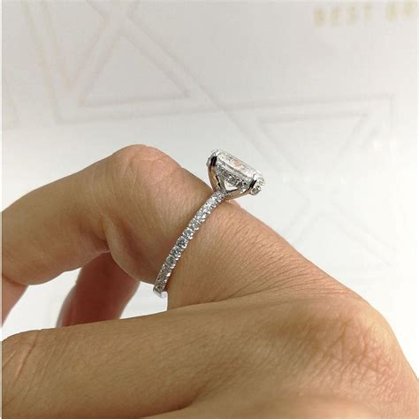 white gold emerald ring 2 carat d si1 oval quot halo quot design engagement