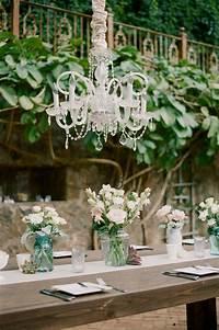 trending patio table decor ideas Wedding Trends 2015 : Wedding chandelier... - itakeyou
