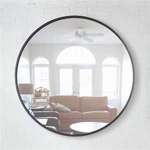 Miroir Rond à Suspendre : grand miroir rond grand miroir noir design hub par umbra ~ Teatrodelosmanantiales.com Idées de Décoration