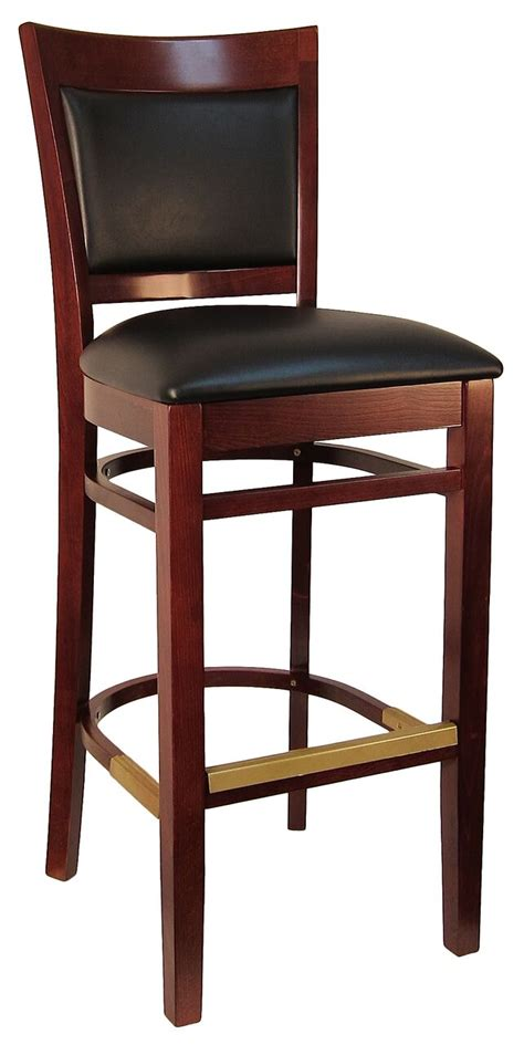 Cushioned Bar Stools With Backs by Sloan Padded Back Wood Stool H8279b Commercial Restaurant