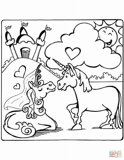 Colorear Unicorn Coloring Unicornio Dibujos Unicorns Kawaii