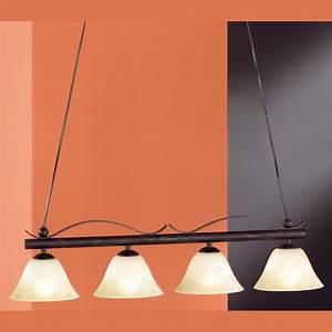 Lampe Mit Mehreren Lampenschirmen : rostfarbige pendellampe vier leuchten ~ A.2002-acura-tl-radio.info Haus und Dekorationen