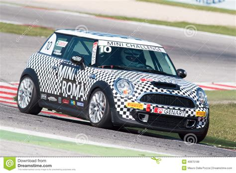 mini cooper s sv31 race car editorial stock photo image 40875188