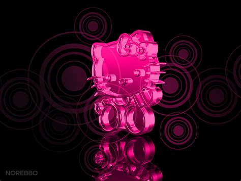 Hello Kitty Wallpaper Hd Metal And Glass Hello Kitty 3d Renderings Norebbo