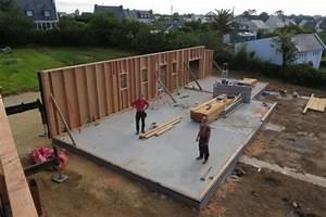dalle pour maison ossature bois avie home With dalle beton pour maison