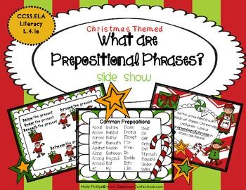Prepositional Phrases By Elementary Lesson Plans Tpt