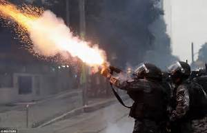 Brazilians clash with police during national strike ...