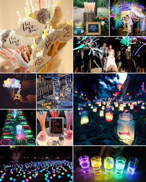 glow sticks neon wedding inspiration