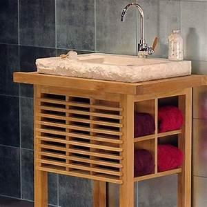 Marmor Waschtisch Mit Unterschrank : bati basho marmor teak waschtisch 85x55x90cm div farben ~ Bigdaddyawards.com Haus und Dekorationen