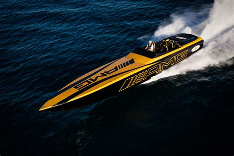 Cigarette Boat Builder by Cigarette And Mercedes Amg S Miami Intrigue