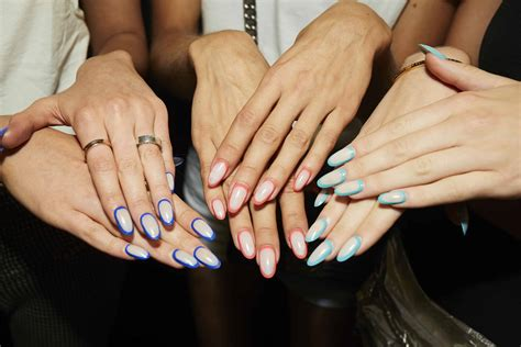 biggest nail trends   spring  nyfw shows