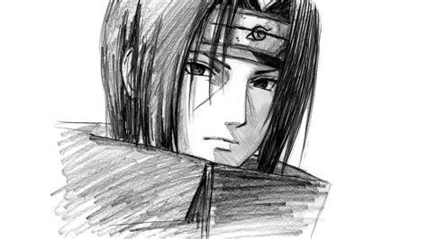 speed drawing itachi uchiha  naruto youtube