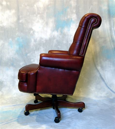 large genuine leather executive office desk chair ebay
