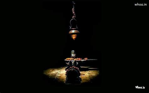 Lord Shiva Shivling With Nandi Wallpaper With Dark Background