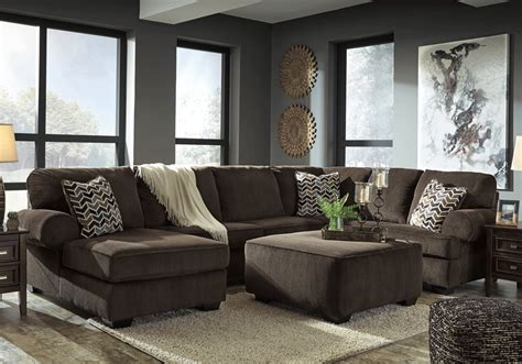Raf Sofa Sectional by Jinllingsly Chocolate 3pc Raf Sofa Sectional Louisville