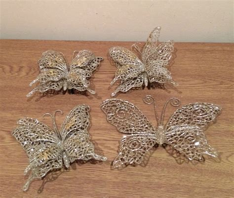 christmas tree decorations ornaments 4 large silver