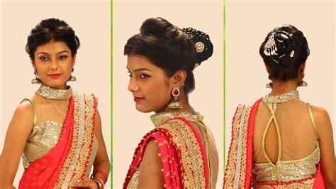 indian bridal hairstyles step  step simple bridal