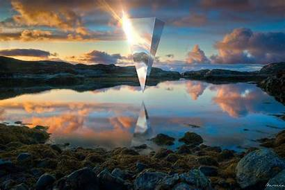 Wallpapers Triangle Wallpaperaccess Reflection Rocks Tower Lake