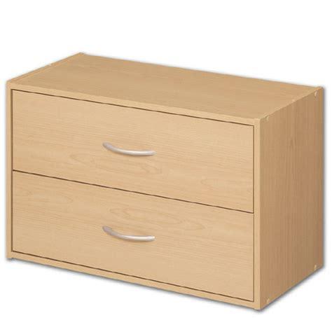 stackable storage drawers stacking two drawer storage chest alder in storage cubes