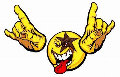 Rock Smiley Face Emoticon Cartoon