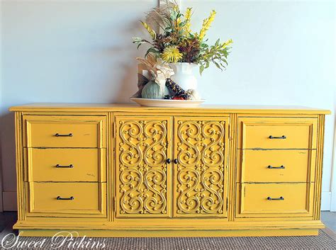 before after yellow dresser sweet pickins furniture
