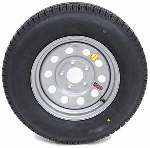 Provider St205  75r15 Radial Trailer Tire W   15 U0026quot  Silver Mod