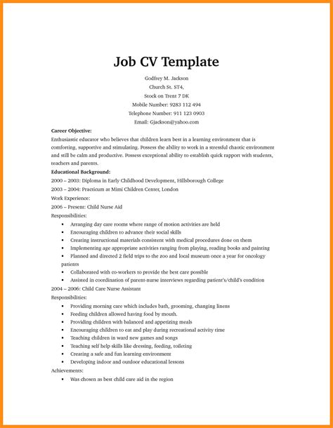 Simple Cv Format For by 11 12 Simple Cv Format For Jadegardenwi