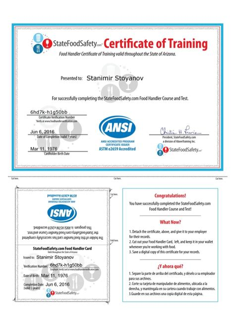 Check spelling or type a new query. Certificate - State Food Safety Stanimir