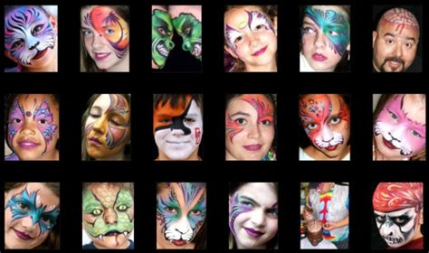 top face painting ideas designs pictures