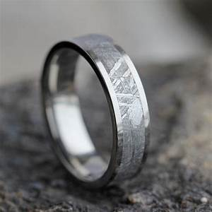 Mens meteorite wedding band mens wedding ring womans wedding for Mens wedding rings meteorite
