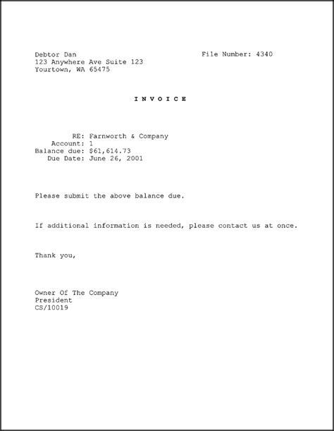 write  invoice letter pandora squared