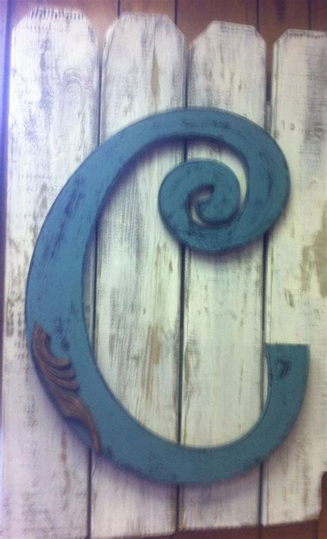 letter  initial  door hanger decor garden fence outdoor fireplace