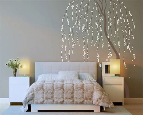 weeping willow tree wall sticker home decorating photo