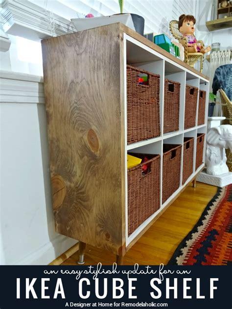 diy ikea kallax shelves hacks    shelterness