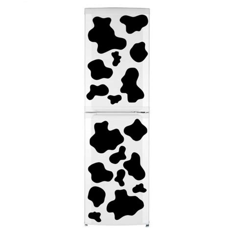Cowhide Refrigerator by Cow Patches Fridge Kitchen Stickers Print Waterproof