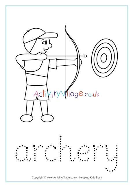 archery word tracing